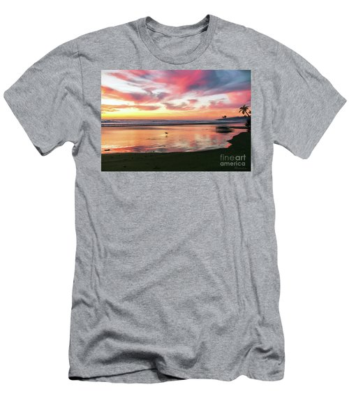Tropical Sunset Island Bliss Seascape C8 Men's T-Shirt (Athletic Fit)