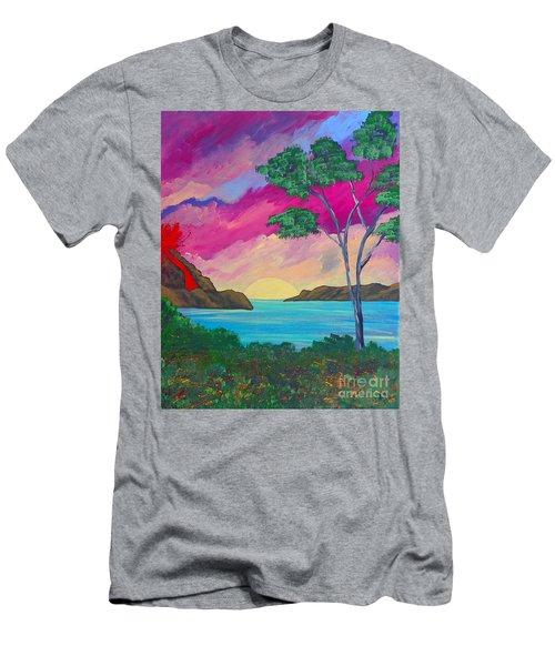 Tropical Volcano Men's T-Shirt (Athletic Fit)