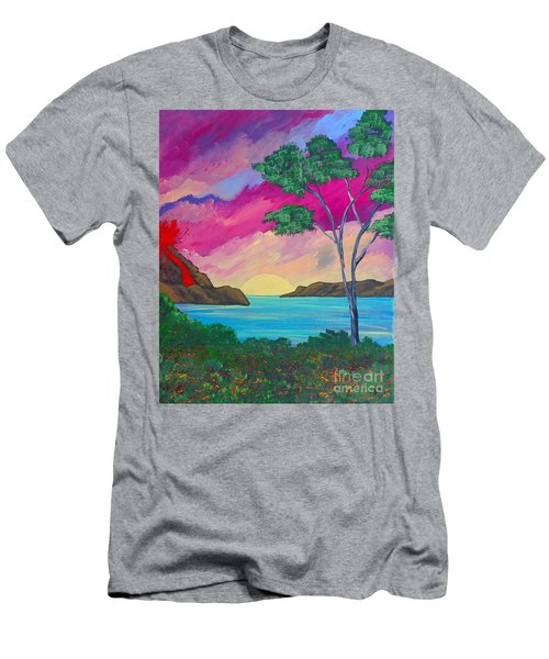 Tropical Volcano Men's T-Shirt (Athletic Fit)