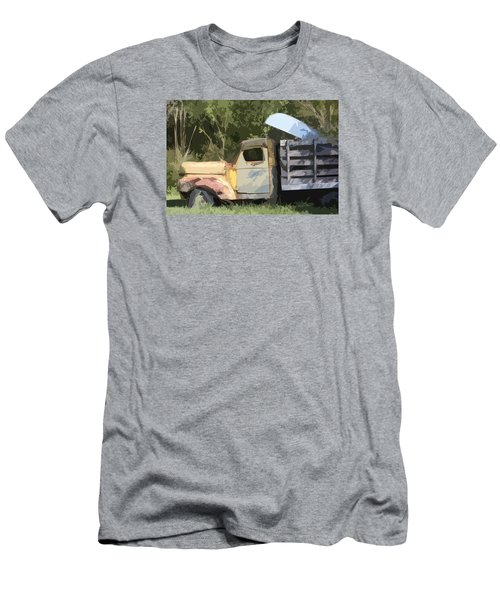 Truck And Canoe Men's T-Shirt (Slim Fit) by Donna G Smith