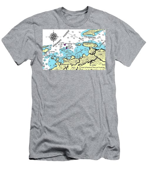 Trunk Bay, St. John Men's T-Shirt (Athletic Fit)