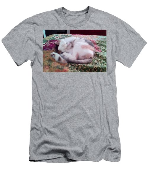 Trying To Nap Men's T-Shirt (Slim Fit) by Ginny Schmidt