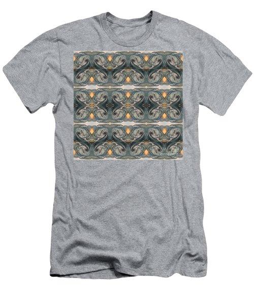 Tsunami Mirror Pattern Men's T-Shirt (Athletic Fit)