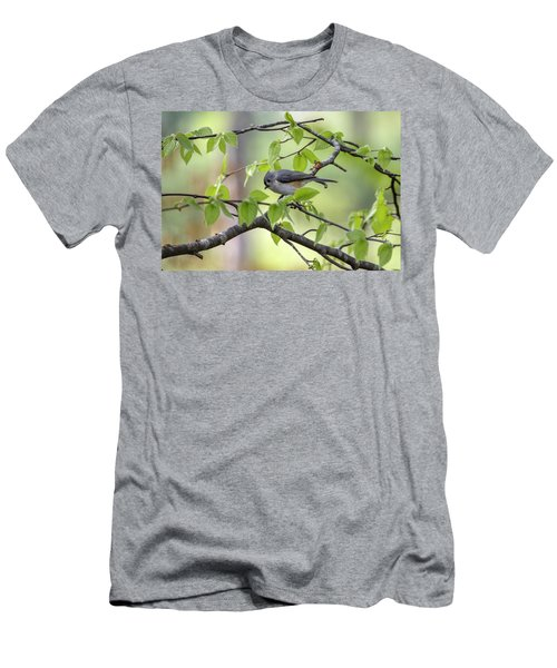 Men's T-Shirt (Athletic Fit) featuring the photograph Tufted Titmouse by Betty Pauwels