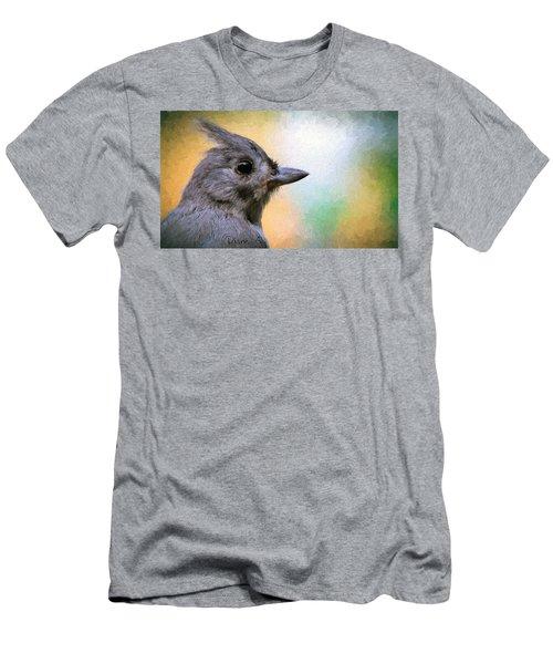 Tufted Titmouse Men's T-Shirt (Slim Fit) by Diane Giurco