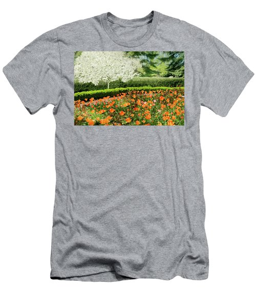 Men's T-Shirt (Slim Fit) featuring the photograph Tulip Cafe by Diana Angstadt