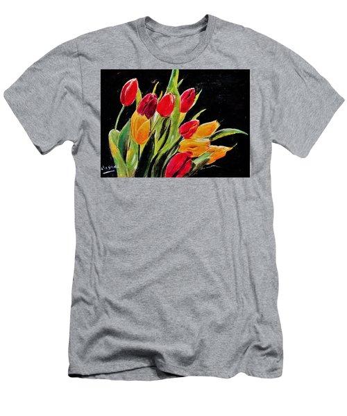 Tulips Colors Men's T-Shirt (Athletic Fit)