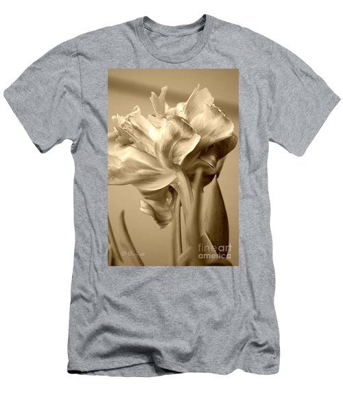 Men's T-Shirt (Athletic Fit) featuring the photograph Tulips In Sepia by Donna Bentley