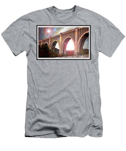 Tunkhannock Viaduct, Nicholson Bridge, Starry Night Fantasy Men's T-Shirt (Athletic Fit)