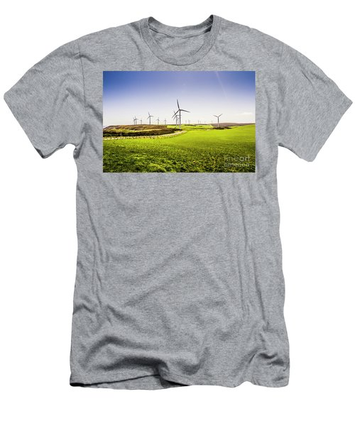 Turbine Fields Men's T-Shirt (Athletic Fit)