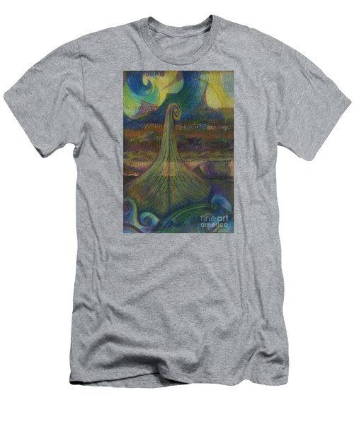 Turbulence Men's T-Shirt (Slim Fit) by Cynthia Lagoudakis