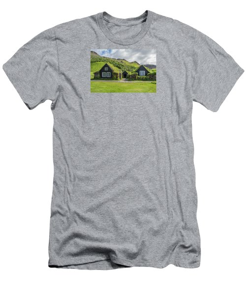 Turf Roof Houses And Shed, Skogar, Iceland Men's T-Shirt (Athletic Fit)