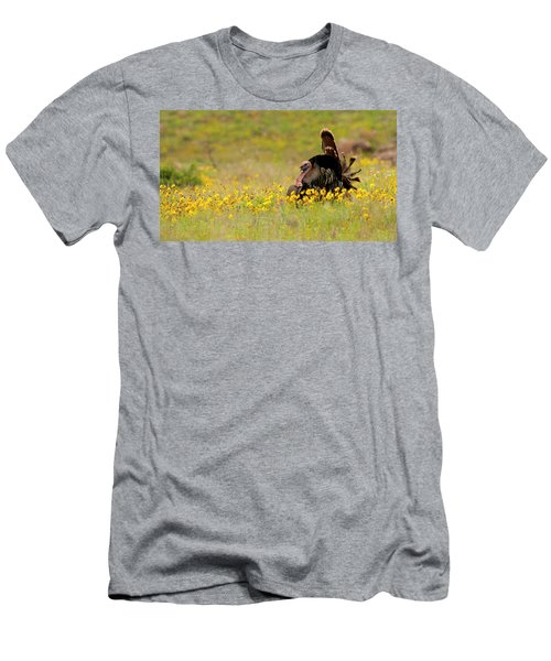 Turkey In Wildflowers Men's T-Shirt (Athletic Fit)