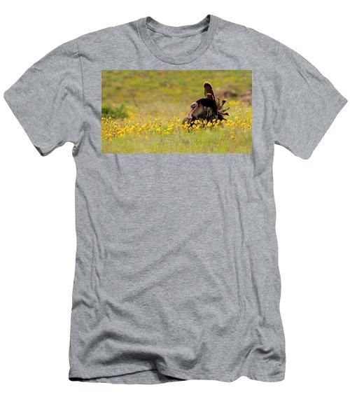 Turkey In Wildflowers Men's T-Shirt (Athletic Fit)