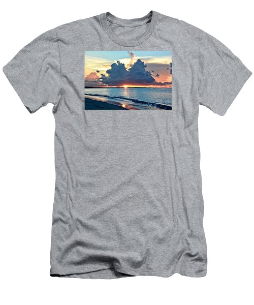 Turks And Caicos Grace Bay Beach Sunset Men's T-Shirt (Athletic Fit)