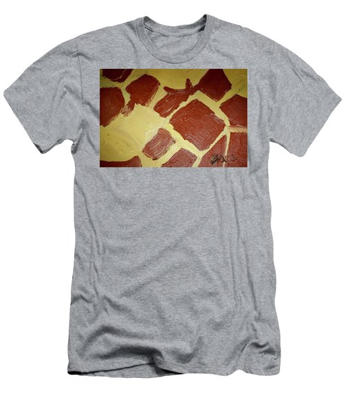 Men's T-Shirt (Slim Fit) featuring the painting Turtle Lamp by Shea Holliman