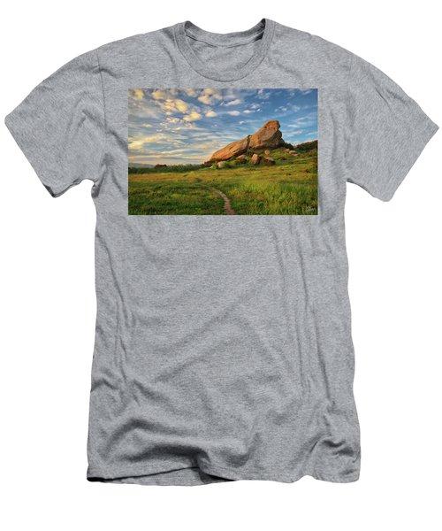 Turtle Rock At Sunset Men's T-Shirt (Athletic Fit)
