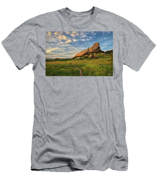 Turtle Rock At Sunset Men's T-Shirt (Athletic Fit)