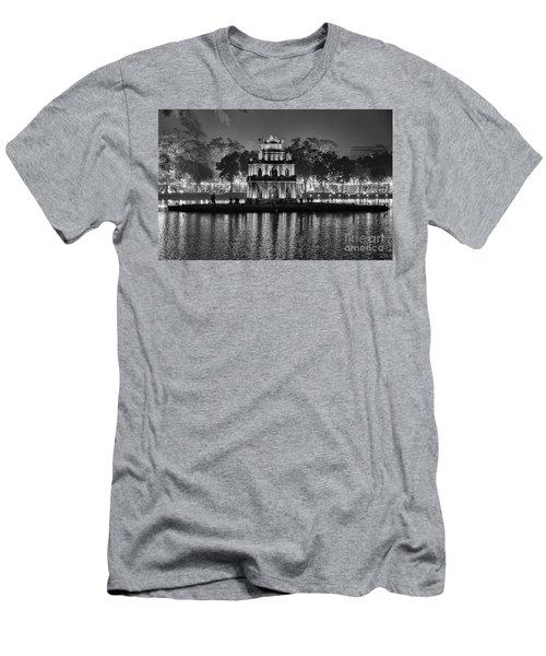 Turtle Tower Black Hanoi  Men's T-Shirt (Athletic Fit)