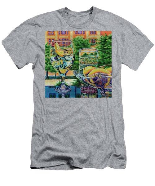 Men's T-Shirt (Slim Fit) featuring the drawing Tuscan Summer Lemonade  by Peter Piatt