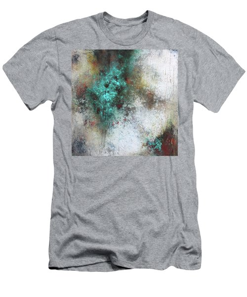 Tuscany Oil And Cold Wax Men's T-Shirt (Slim Fit) by Patricia Lintner
