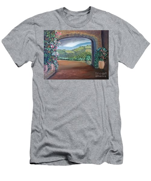 Tuscany Vineyards Through The Archway Men's T-Shirt (Athletic Fit)