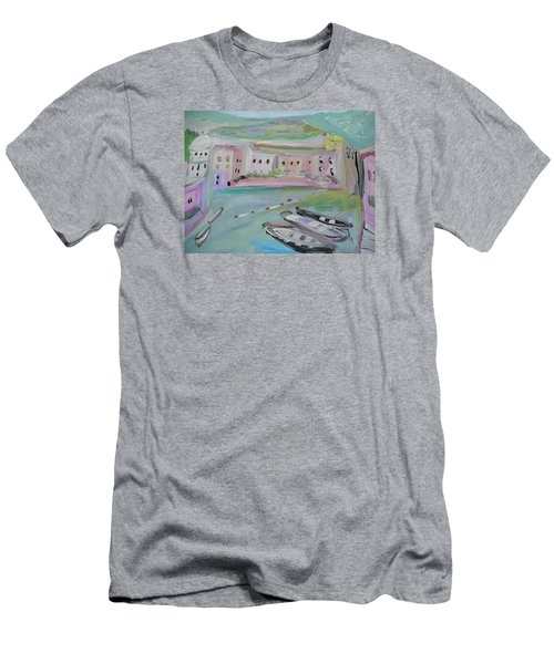 Men's T-Shirt (Slim Fit) featuring the painting Tutti Frutti by Judith Desrosiers
