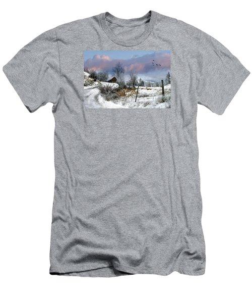 Twain's Barn Men's T-Shirt (Slim Fit) by Ed Hall