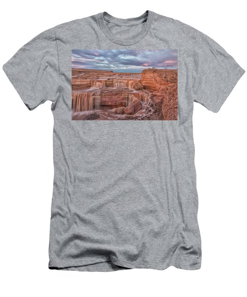 Twilight At Chocolate Falls Men's T-Shirt (Slim Fit) by Tom Kelly