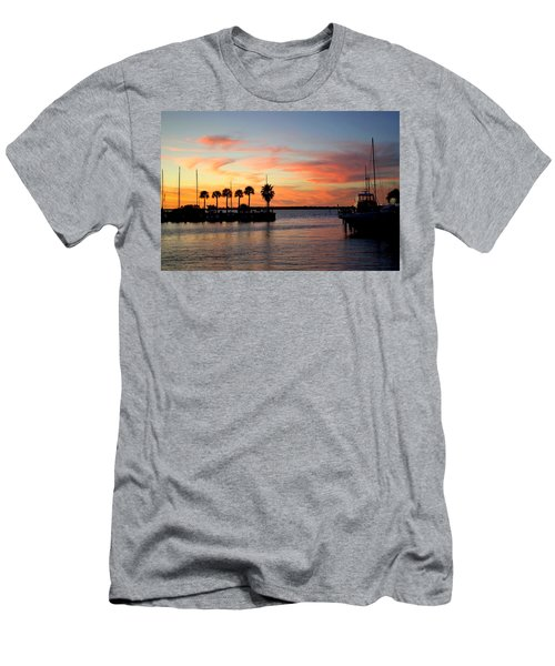 Twilight At The Marina Men's T-Shirt (Athletic Fit)