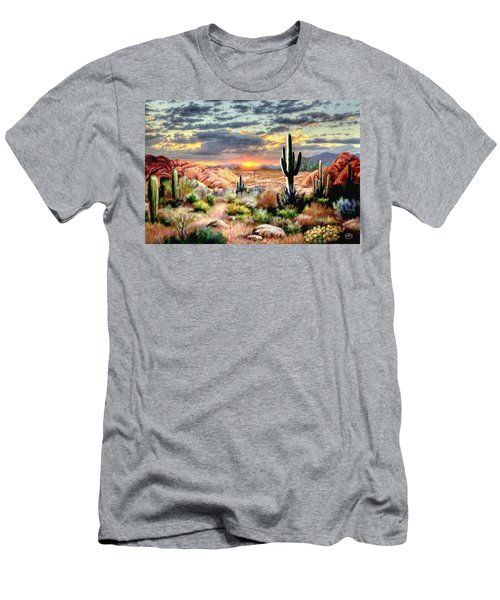 Twilight On The Desert Men's T-Shirt (Athletic Fit)