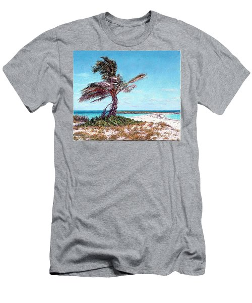 Twin Cove Palm Men's T-Shirt (Athletic Fit)