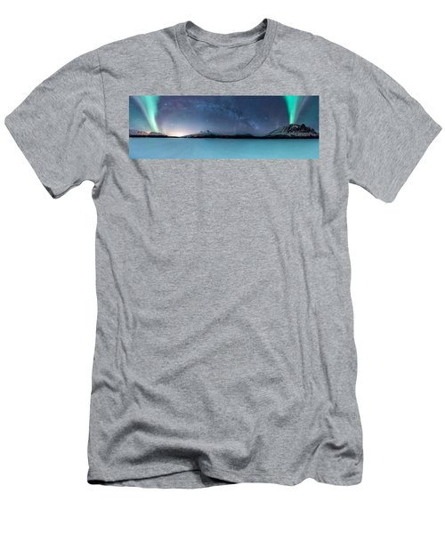 Twin Eruption Men's T-Shirt (Athletic Fit)