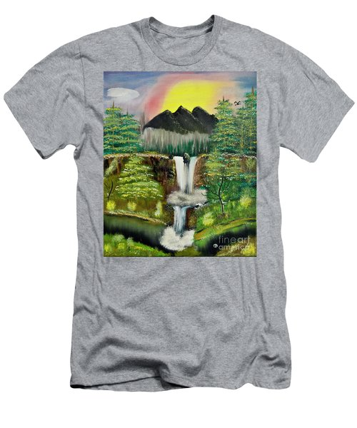 Twin Waterfalls Men's T-Shirt (Athletic Fit)