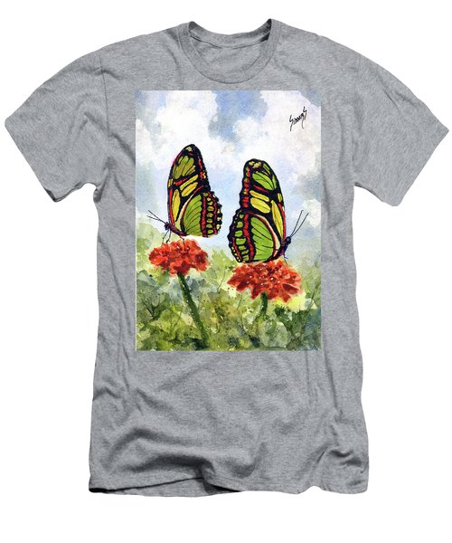 Men's T-Shirt (Athletic Fit) featuring the painting Twins by Sam Sidders