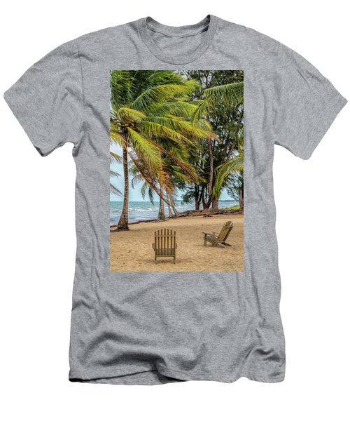Two Chairs In Belize Men's T-Shirt (Athletic Fit)