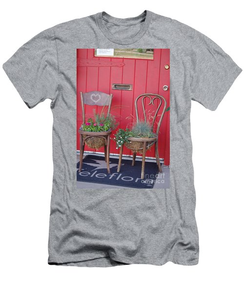 Two Chairs With Plants Men's T-Shirt (Athletic Fit)