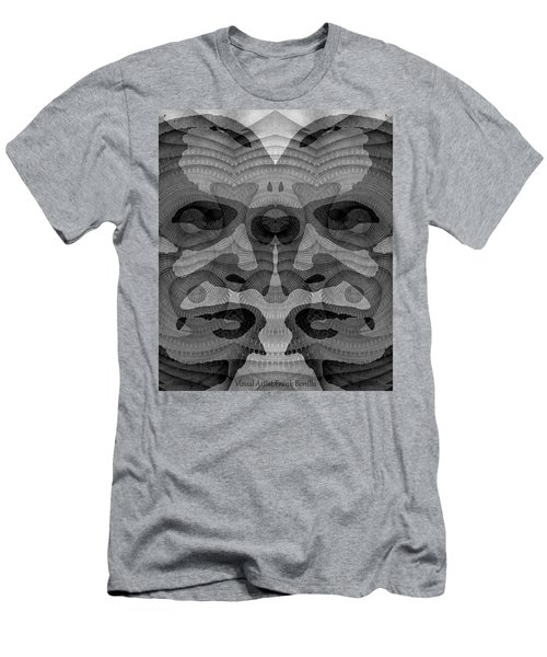 Two-faced Bw Version Men's T-Shirt (Athletic Fit)