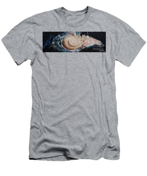 Two Galaxies Colliding Men's T-Shirt (Athletic Fit)