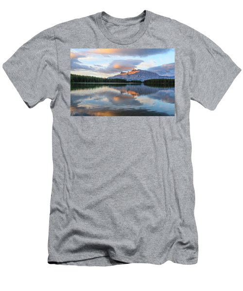 Two Jack Lake, Banff National Park Men's T-Shirt (Athletic Fit)