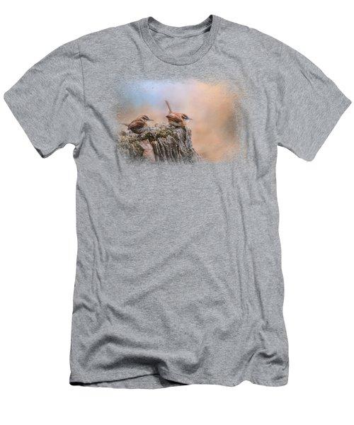 Two Little Wrens Men's T-Shirt (Slim Fit) by Jai Johnson