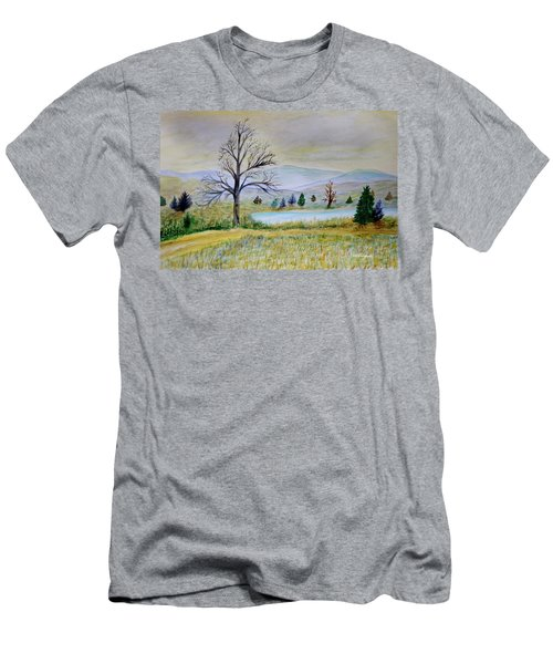 Two Tracking Men's T-Shirt (Slim Fit) by Dick Bourgault