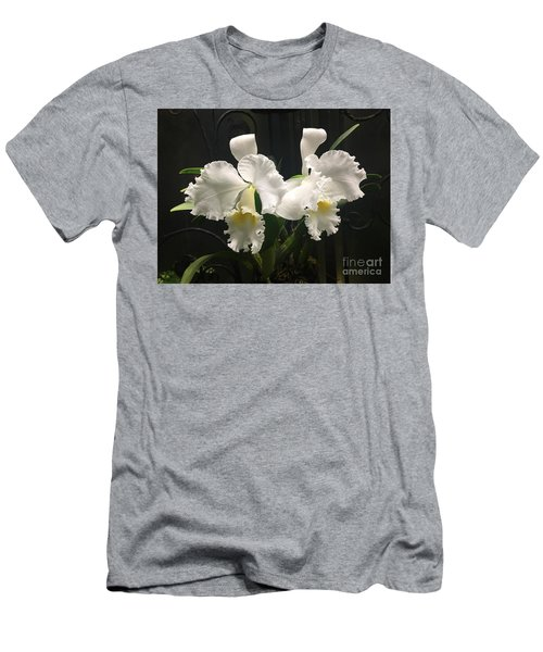 Two White Orchids Men's T-Shirt (Athletic Fit)