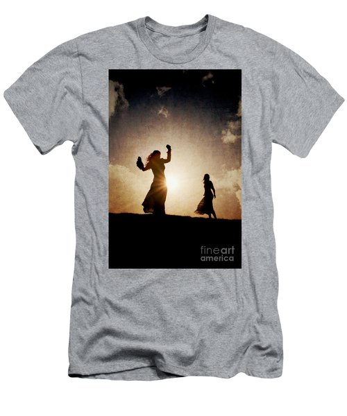Two Women Dancing At Sunset Men's T-Shirt (Athletic Fit)