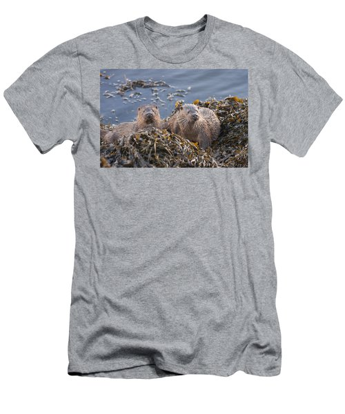 Two Young European Otters Men's T-Shirt (Athletic Fit)