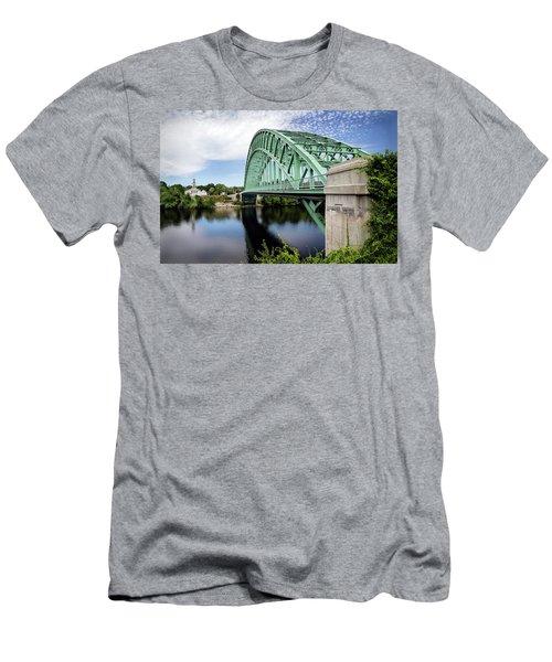 Tyngboro Bridge, First Parish Meeting House Men's T-Shirt (Athletic Fit)