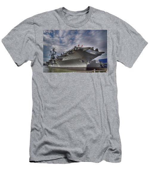 U S S  Intrepid     Men's T-Shirt (Slim Fit) by Dyle Warren