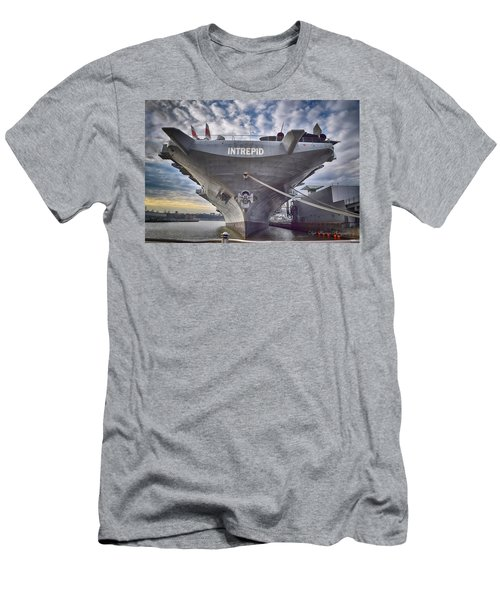 U S S   Intrepid's Bow  Men's T-Shirt (Athletic Fit)