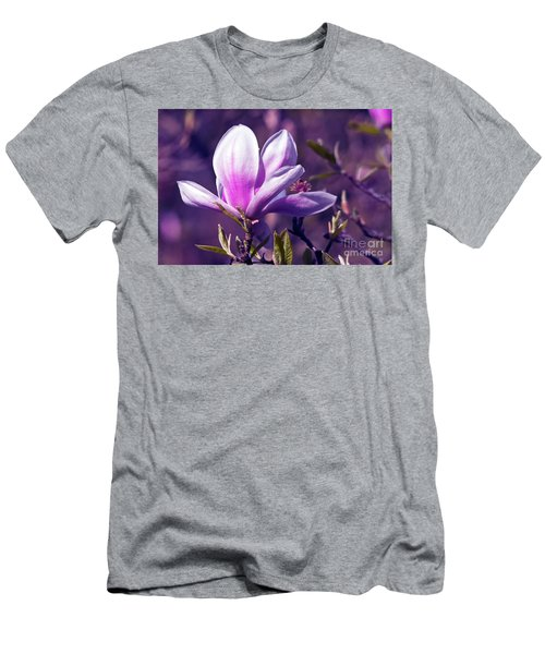 Men's T-Shirt (Athletic Fit) featuring the photograph Ultra Violet Magnolia  by Silva Wischeropp