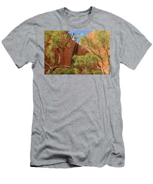 Men's T-Shirt (Athletic Fit) featuring the photograph Uluru 02 by Werner Padarin